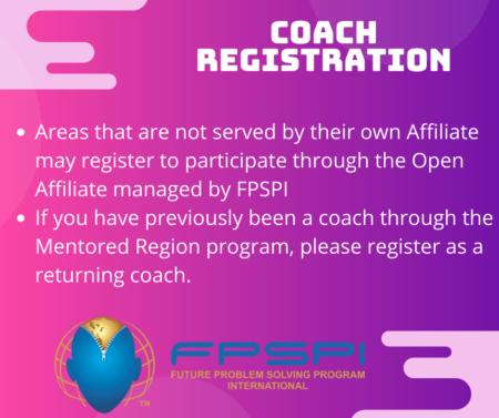 Open Affiliate Coach registration