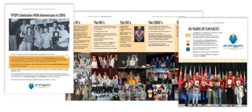 45 years brochure